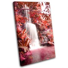 Waterfall Forest Red Landscapes - 13-0219(00B)-SG32-PO